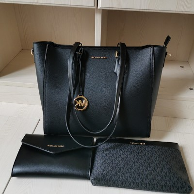 MICHAEL Michael Kors Kimberly 3 In 1 Tote Bag In Black