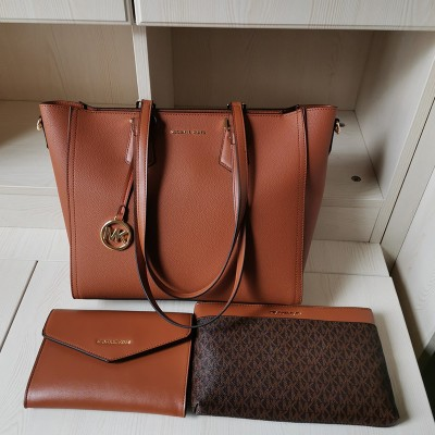 MICHAEL Michael Kors Kimberly 3 In 1 Tote Bag In Brown