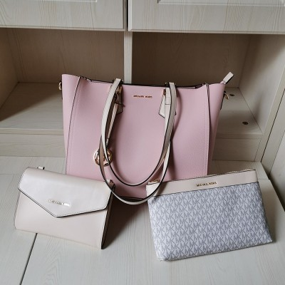 MICHAEL Michael Kors Kimberly 3 In 1 Tote Bag In Pink