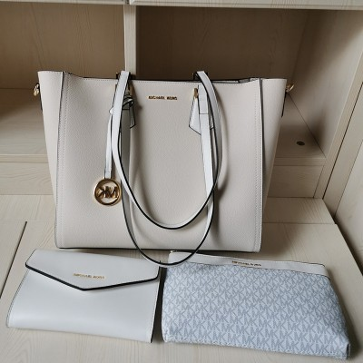 MICHAEL Michael Kors Kimberly 3 In 1 Tote Bag In White