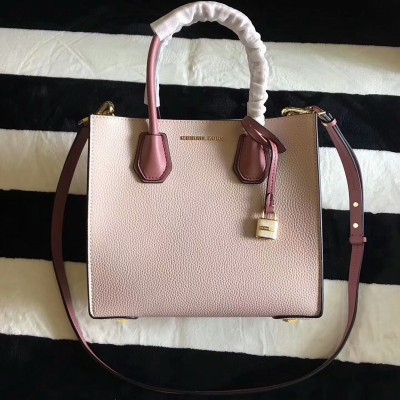 MICHAEL Michael Kors Mercer Color-Block Leather Tote Apricot