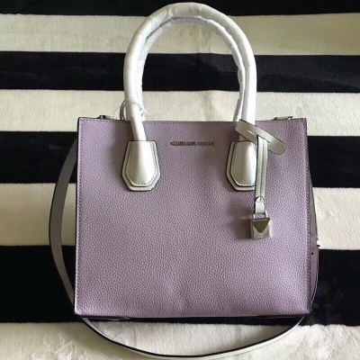 MICHAEL Michael Kors Mercer Color-Block Leather Tote Light Purple