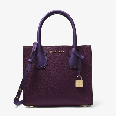 MICHAEL Michael Kors Mercer Color-Block Leather Tote Purple