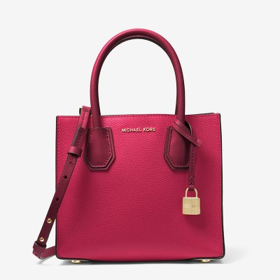 MICHAEL Michael Kors Mercer Color-Block Leather Tote Red