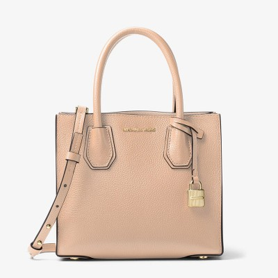 MICHAEL Michael Kors Mercer Leather Tote Apricot