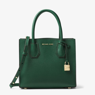 MICHAEL Michael Kors Mercer Leather Tote Green
