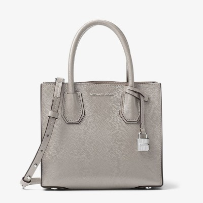 MICHAEL Michael Kors Mercer Leather Tote Grey