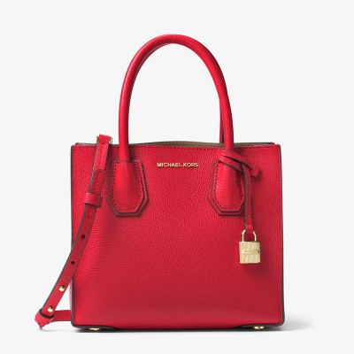 MICHAEL Michael Kors Mercer Leather Tote Red