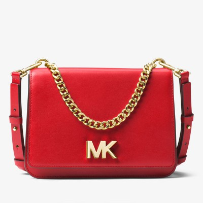 MICHAEL Michael Kors Mott Leather Crossbody Red