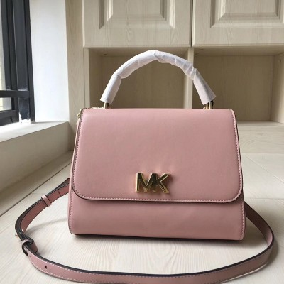 MICHAEL Michael Kors Mott Small Leather Satchel Pink