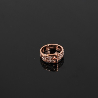 Cheap Michael Kors Rose Gold-Tone Pave Belt Buckle Ring