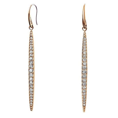 Cheap Michael Kors Rose Gold-Tone Pave Crystal Matchstick Drop Earrings