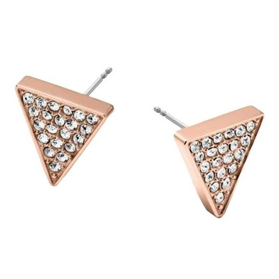 Cheap Michael kors Rose Gold-Tone Pave Crystal Triangle Stud Earrings