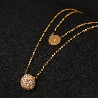 Cheap Michael Kors Gold-Tone Pave Semicircle Pendants Necklace