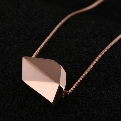Cheap Michael Kors Rose Gold-Tone Polygon Geometry Pendant Necklace