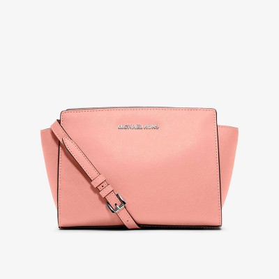 MICHAEL Michael Kors Selma Medium Saffiano Leather Messenger Pink