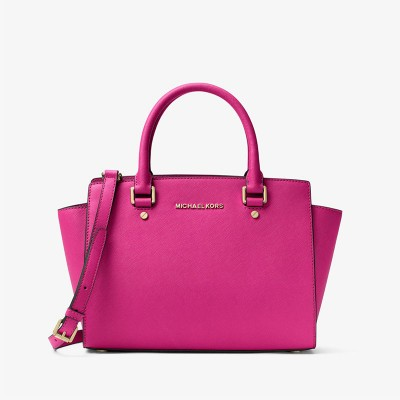 MICHAEL Michael Kors Selma Saffiano Leather Satchel Rose