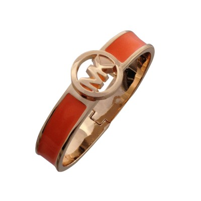Cheap Michael Kors Orange Skinny Logo Hinge Bracelet