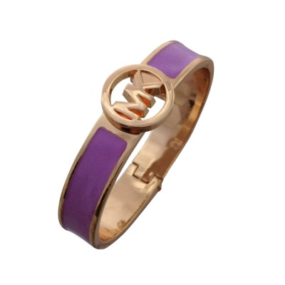 Cheap Michael Kors Purple Skinny Logo Hinge Bracelet