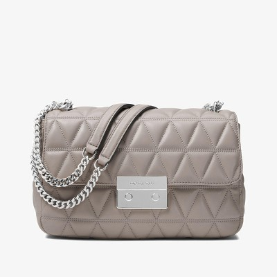 MICHAEL Michael Kors Sloan Quilted-Leather Shoulder Bag Grey